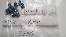 10 x Sheet Metal HANK BUSHES M4 x 2mm 14g Hex Head Steel Bright Zinc Plated New