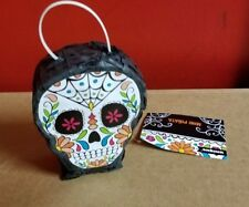 Mini Sugar Skull Day of the Dead Pinata Decorations 5.25 x 4 Inch with Hanger