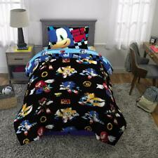 Sonic the Hedgehog Bed in a Bag, Kids Bedding Set, 4-Piece Twin