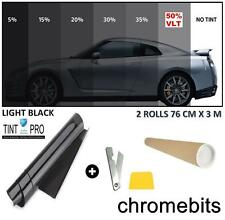 PRO ANTI-SCRATCH CAR WINDOW TINT FILM TINTING LIGHT BLACK SMOKE 50% 76cm x 6M