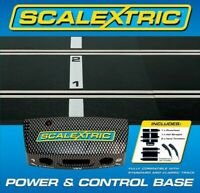 Scalextric C8530 Power & Control Base + 2 Hand Controllers : 1/32 Slot Car Track