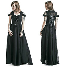BANNED DAYSLEEPER GOTHIC CORSET MAXI VICTORIAN LONG DRESS GOTH STEAMPUNK LACE