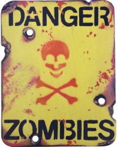 Kombat UK Danger Zombies Sign  Military Army Style