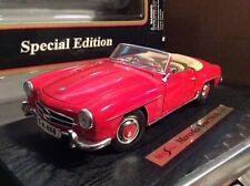 Mercedes Benz 190 SL red  1/18 diecast   MAISTO special edition