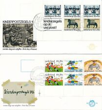 E144A en E153A - Blok Kinderzegels 1975 en 1976 - Blanco (CW = € 55,-)