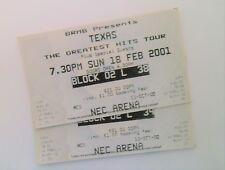 RARE Texas Memorabilia Mint Unused Tickets Birmingham 18/02/01 Sharleen Spiteri