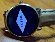 Fossil Q Wander Gen 2 45mm Rose Gold Leather Light Brown Smartwatch - FTW2102