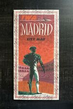 Vintage TWA Airlines Madrid, Spain City Map Aviation Brochure - 1940s