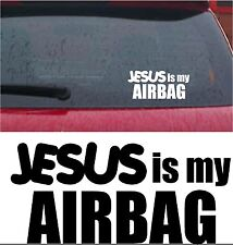 Jesús Es Mi Airbag Divertido Coche Pegatina de vinilo van Parachoques Ventana Calcomanía BMX Skate VW