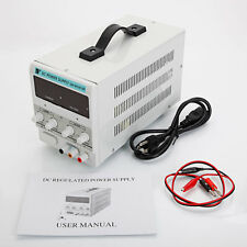 30V 10A 110V DC Power Supply Precision Variable Digital Adjustable Clip Cable US