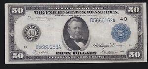US 1914 $50 FRN Cleveland FR 1039b VF-XF (168)