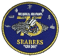 USN NAVY SEABEES 75TH ANIVERSARY PATCH CAN DO WE BUILD FIGHT CONSTRUCTION CB