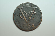 mw7037 VOC - Netherlans East Indies; Duit  1754 - Utrecht Arms - KM#111.1