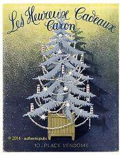 PUBLICITE PARFUM CARON HEUREUX CADEAUX SAPIN DE NOEL DE 1956 FRENCH AD PUB