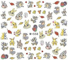 Nail Art Stickers Water Decals Rabbit Cartoon Characters  (M+558)