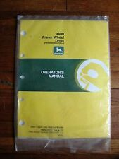 John Deere 9400 Press Wheel Hoe Drill operators Manual NOS Issue K2