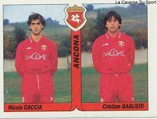 N°356 CACCIA - BAGLIERI # ITALIA ANCONA SSC.NAPOLI STICKER TUTTO CALCIO 1995 SL