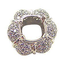 DIAMOND ROUND BRILLIANT PAVE SET SETTING SET 4 PRONG
