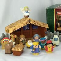 FISHER PRICE Little People DELUXE CHRISTMAS STORY Nativity SET Light & Sound