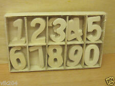 Wooden Machine cut Plain  Numbers 0-9 3.5 cm  3mm 5 pcs each in tray total 50