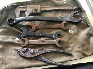 Lot of 6 Ford Adjustable, Combo Curve & Open End Wrenches  + Pillers