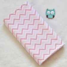 Handcrafted, Flannel Pink Chevron Print & Pink Minky Bubble Baby Burp Cloth