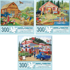 Set of Three (3) 300 Piece Jigsaw Puzzles for Adults - Americana Collection...