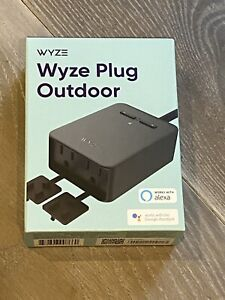 Brand New & Sealed Wyze Plug Outdoor (2 Plugs In 1) IP65 Weather Resistant