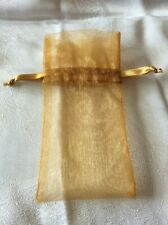 One Small Gold Organza Bag / Pouch / Gift Bag Net Bag 15cm x 8cm