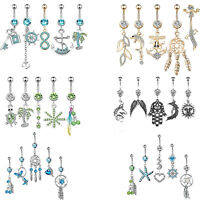 5Pcs Dangle Belly Button Rings Navel  Rings Belly Piercing Body Piercing Jewelry