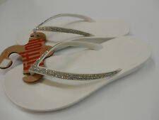FITFLOP WOMENS SANDALS IQUSHION SPARKLE URBAN WHITE SIZE 10