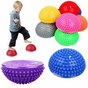 Inflatable Half Sphere Yoga Balls PVC Massage Fitball Exercises Trainer Balancin