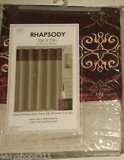 """DECORATIVE EMBROIDERED SHOWER CURTAIN SIZE 70""""X 70"""" NEW IN BAG"""