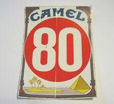 ADESIVO AUTO MOTO anni '80 / Sticker CAMEL 80 PIRAMIDE (cm 12 x 16)