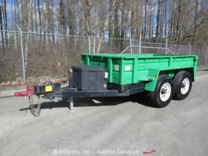 2011 Best DB5X10HS T A 10 Hydraulic Dump Utility Trailer 9,900 GVWR Barn Doors