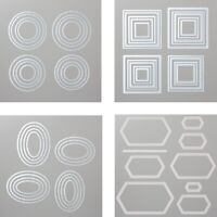 Circle Square Frames Metal Cutting Dies Scrapbooking Embossing DIY Stencil Craft