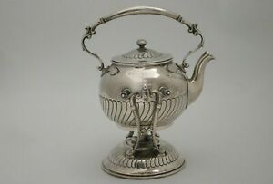 Dominic & Haff Sterling Silver Individual Tea Kettle 19c Rare Size