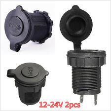 New listing 2pcs Cigarette Lighter Socket Splitter 12V Charger Power Adapter Outlet Car Boat