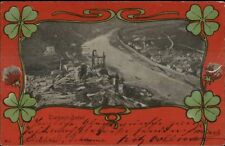 Trarbach-Traben Germany Clover Border c1905 Postcard