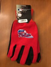 NEW PHILLIES Sport Utility Gloves Red & Black W/Phillies Logo On Top Of Each