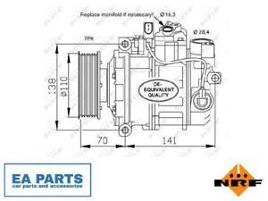 Compressor, air conditioning for AUDI BENTLEY PORSCHE NRF 32613
