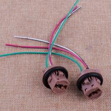 2pcs Car T20 Harness Wire Bulb Socket Pig Tail For LED Turn Signal Brake Lights