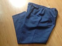 LADIES BLUE TAILORED BUSINESS/WORK TROUSERS by BERKERTEX SIZE UK 20
