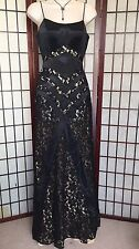 Gorgeous JASZ COUTURE Black Lace Sequined Women's Prom Dress Formal Gown Size 4