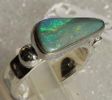 Semi Black Opal 3.2 Karat 950er Silberring Größe 18,4 mm