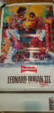 Roberto Duran vs Ray Leonard 3 Leroy Neiman Budweiser poster