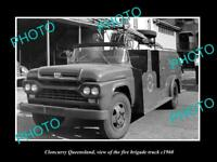 OLD LARGE HISTORIC PHOTO OF CLONCURRY QUEENSLAND, THE FIRE BRIGADE TRUCK c1960