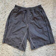 "Lululemon Men's Medium Gray Shorts 9"" Athletic M Workout Liner Lined"