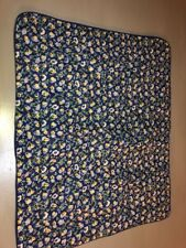 LAURA ASHLEY PRIORY POLYANTHUS BLUE YELLOW FLORAL QUILTED STANDARD PILLOW SHAM