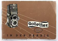 Original Rolleiflex 3.5 F Instruction Manual in German - 36 pages,  Jan. 1960